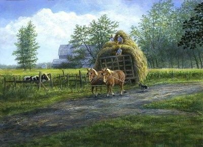 Making Hay Poster by John Morrow for $40.00 CAD