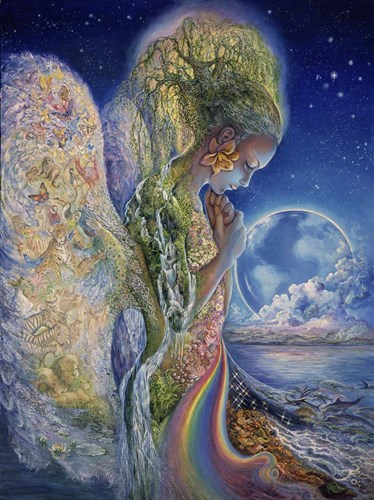 Sadness Of Gaia Poster by Josephine Wall for $41.25 CAD