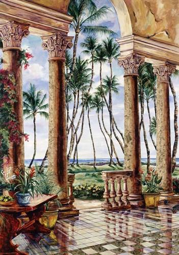 Paradise Palms Poster by Karen Stene for $70.00 CAD