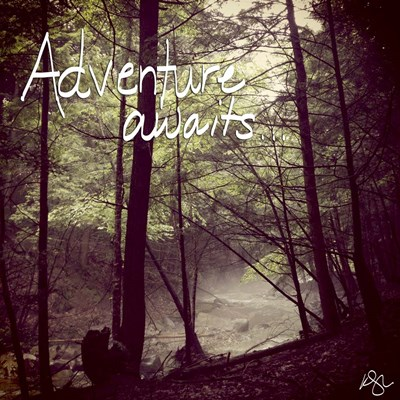 Adventure Awaits Poster by Kimberly Glover for $35.00 CAD
