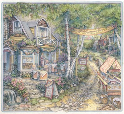 Cobblestone Inn Poster by Kim Jacobs for $46.25 CAD