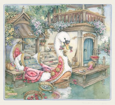Swan Boat Poster by Kim Jacobs for $46.25 CAD