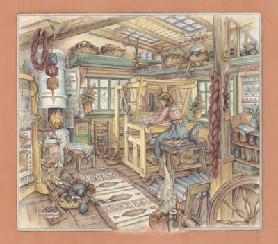 Weaving Room Poster by Kim Jacobs for $45.00 CAD