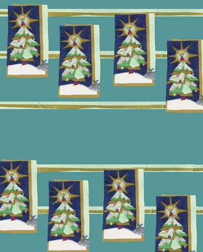 Christmas Tree Wrap Collage Poster by Kim Jacobs for $40.00 CAD