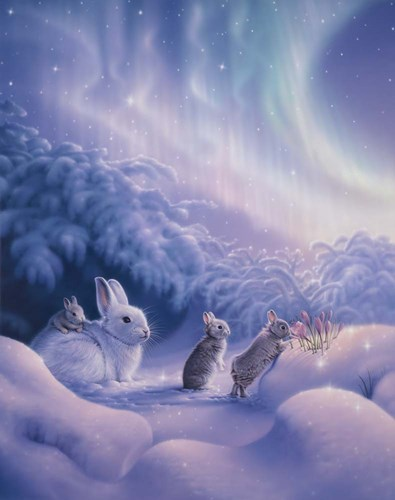 Snuggle Bunnies Poster by Kirk Reinert for $40.00 CAD