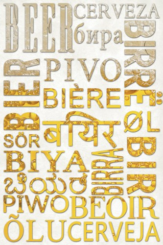 Beer In Different Languages Poster by Lantern Press for $102.50 CAD