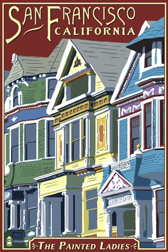 The Painted Ladies California Ad Poster by Lantern Press for $102.50 CAD