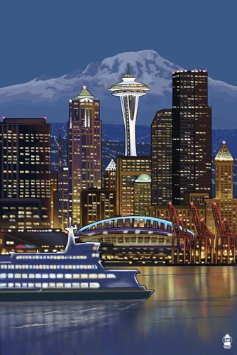 Seattle Poster by Lantern Press for $43.75 CAD