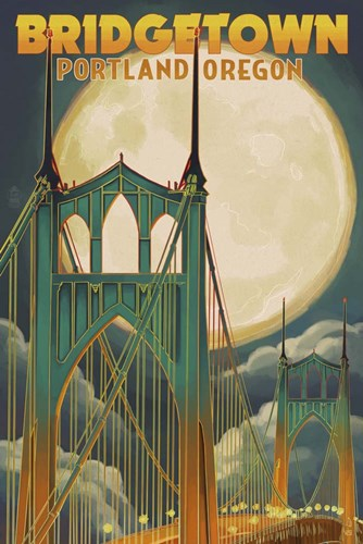 Bridgetown OR Poster by Lantern Press for $43.75 CAD