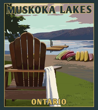 Muskoka Lakes Poster by Lantern Press for $37.50 CAD