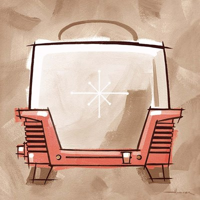Toaster - Coral & Brown Poster by Larry Hunter for $41.25 CAD