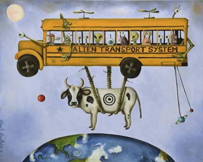 Alien Transport Poster by Leah Saulnier for $40.00 CAD
