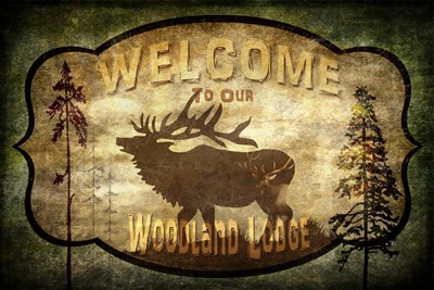 Welcome - Lodge Elk Poster by LightBoxJournal for $62.50 CAD