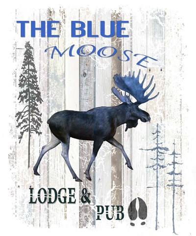 The Blue Moose Poster by LightBoxJournal for $71.25 CAD