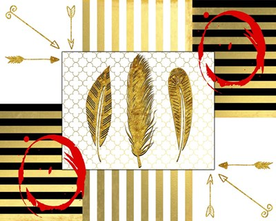 Gold Love Feathers Poster by LightBoxJournal for $56.25 CAD