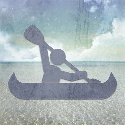 Beach Signs Kayak Poster by LightBoxJournal for $35.00 CAD