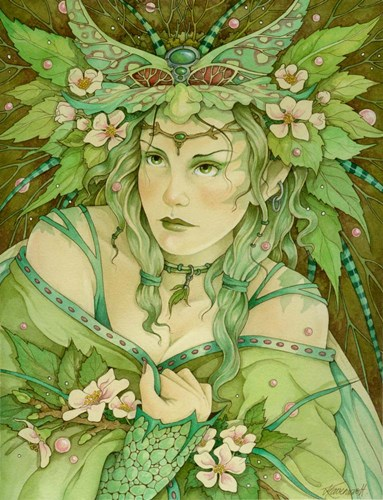 Lady Of Spring Poster by Linda Ravenscroft for $41.25 CAD