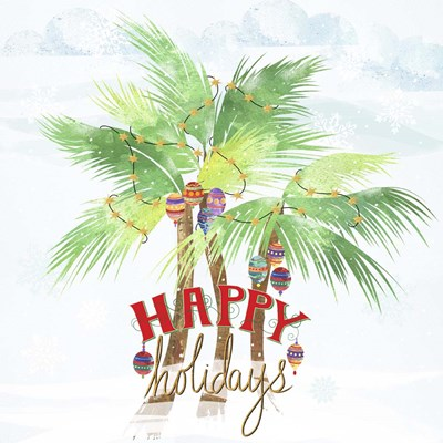 Xmas Palm Trees Poster by Lisa Powell Braun for $41.25 CAD