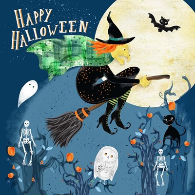 Halloween Witch Poster by Lisa Powell Braun for $41.25 CAD