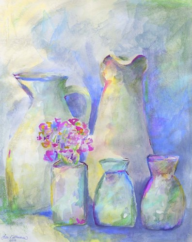 Homage To Morandi With Flowers Poster by Lisa Katharina for $40.00 CAD