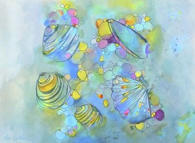 Malacology Mixed Media Poster by Lisa Katharina for $40.00 CAD