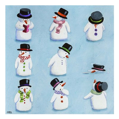 Snowmen Poster by Louise Tate for $48.75 CAD