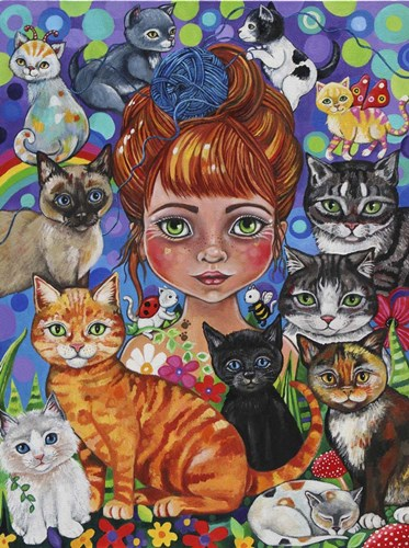 Katia the Purry Godmother Poster by Lynda Bell for $41.25 CAD