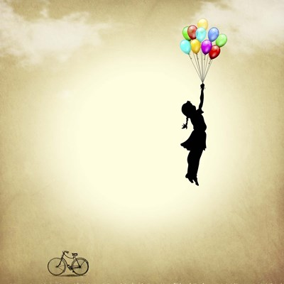 Balloon Poster by Mark Ashkenazi for $101.25 CAD