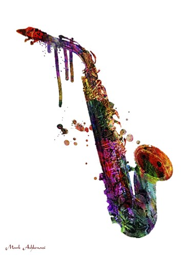 Saxophone 2 Poster by Mark Ashkenazi for $78.75 CAD