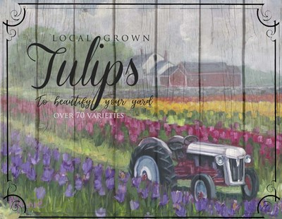 Tractoring Through The Tulips Poster by Marnie Bourque for $38.75 CAD