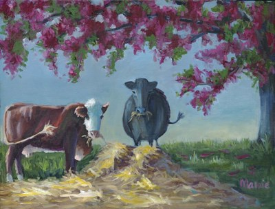 Under The Blossoms 2 Poster by Marnie Bourque for $38.75 CAD