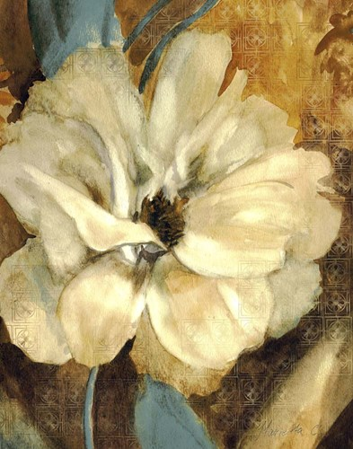 Cream Flower 1 Poster by Marietta Cohen for $40.00 CAD