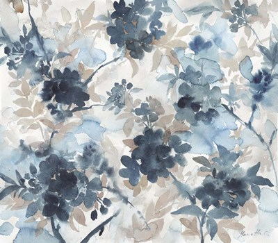 Blue Blossoms Poster by Marietta Cohen for $45.00 CAD