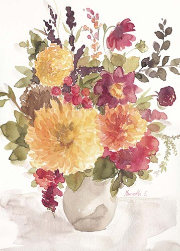Delicate Flowers 2 Poster by Marietta Cohen for $42.50 CAD