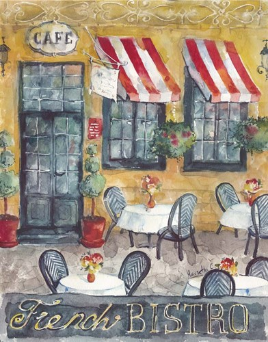 French Bistro Poster by Marietta Cohen for $40.00 CAD