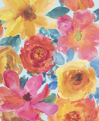 Fresh Flowers All Over Poster by Marietta Cohen for $38.75 CAD