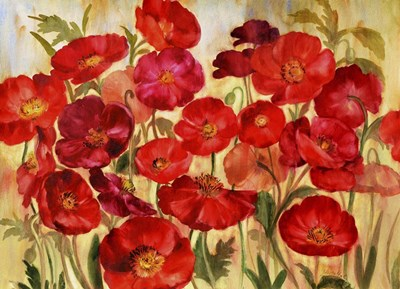 Red Poppies Poster by Marietta Cohen for $40.00 CAD