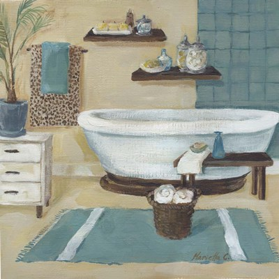 Cheetah Pattern Bath I Poster by Marietta Cohen for $48.75 CAD