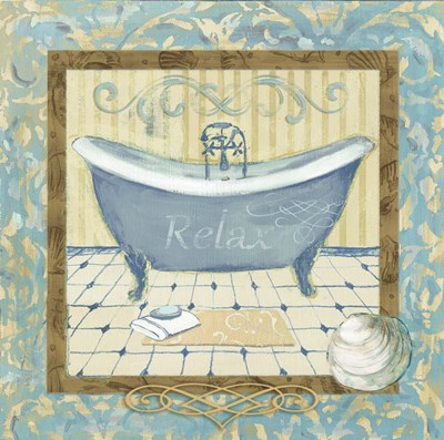 Turquoise Tub I Poster by Marietta Cohen for $48.75 CAD