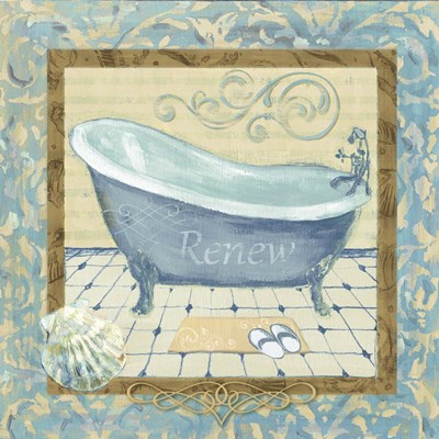 Turquoise Tub II Poster by Marietta Cohen for $48.75 CAD