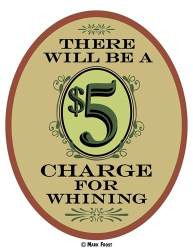 $5 Charge Whining Poster by Mark Frost for $66.25 CAD