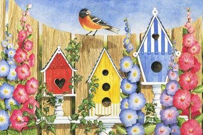 Bird House Row Poster by Mary Irwin for $43.75 CAD