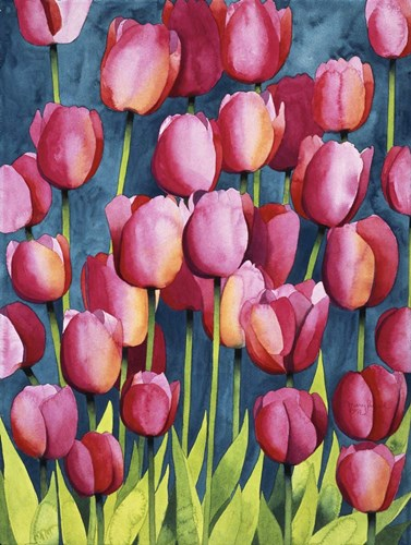 Pink Tulips Poster by Mary Russel for $41.25 CAD