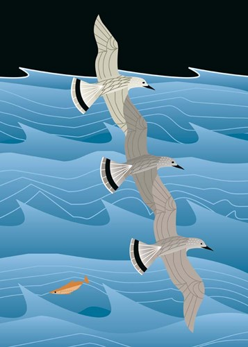 Gulls Poster by Marie Sansone for $33.75 CAD