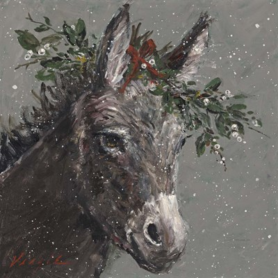Mary Beth the Christmas Donkey Poster by Mary Miller Veazie for $48.75 CAD