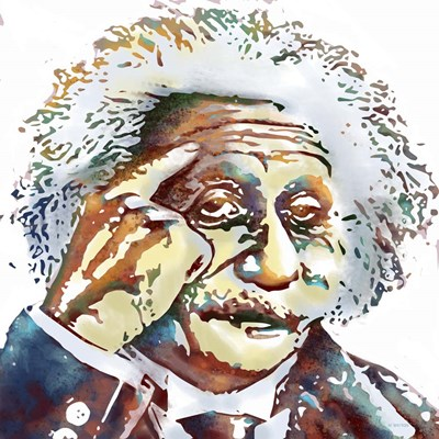 Albert Einstein Poster by Marlene Watson for $56.25 CAD