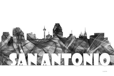 San Antonio Texas Skyline BG 2 Poster by Marlene Watson for $43.75 CAD