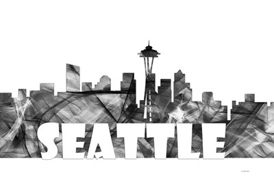 Seattle Washington Skyline BG 2 Poster by Marlene Watson for $43.75 CAD