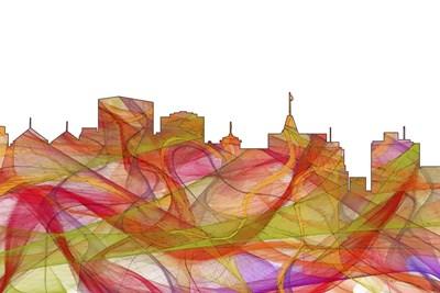 Oakland California Skyline - Summer Swirl Poster by Marlene Watson for $43.75 CAD