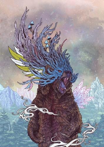 Journeying Spirit (Bear) Poster by Mat Miller for $42.50 CAD